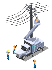 electrical construction crew
